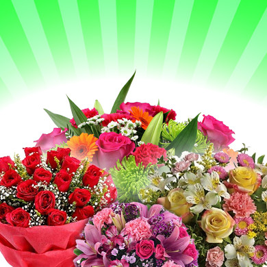 Flower Bouquets, Bunches