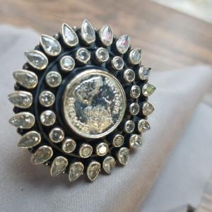 Cut Stone Ring - 1 pc