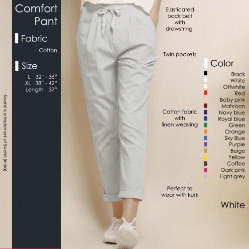 Comfort Pant White
