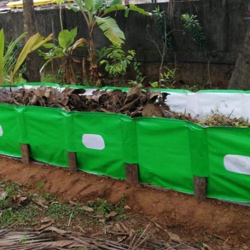 Mipatex 350 GSM HDPE Organic Vermi Compost Maker Bed, 12ft x 4ft x 2ft (Green)