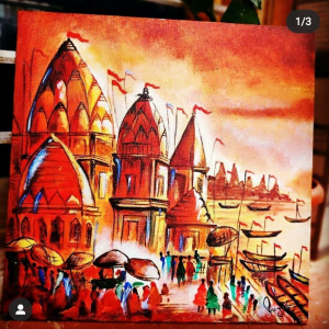 Kashi Ghat painting