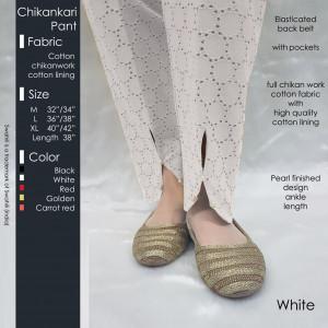 Chikankari Pant White