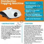 Portable Disinfection Fogging Machine