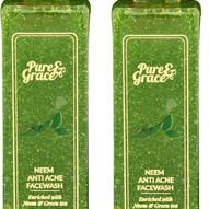 Pure & Grace Neem - Anti Acne Facewash Pack of 2 (Code: C1416475)