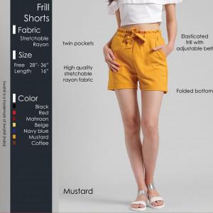 Frill Shorts Mustard