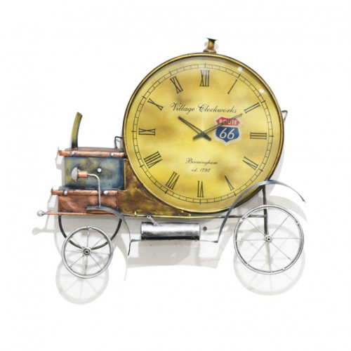 Metal Antique engine clock wall art