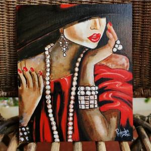 Morden Art Painting Girl