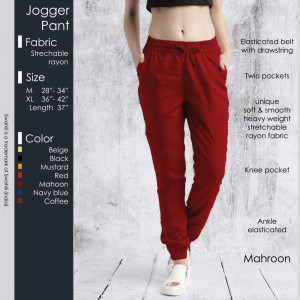 Jogger Pant Mahroon