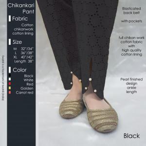 Chikankari Pant Black
