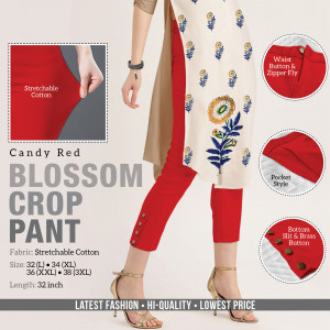 Blossom Crop Pant Candy Red