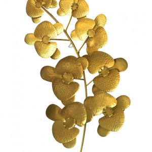 Metal Golden Leaf Wall Art