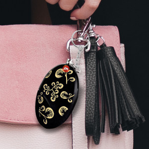 120db Personal Alarm Keychain/Safety Alarm For Women Security (BlackGold)
