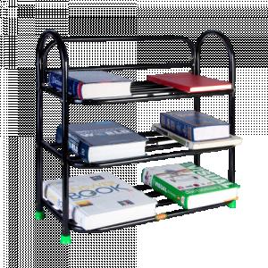 Iron 3 Shelves Book Rack