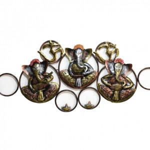 Metal Antique Ganesha Wall Art LED