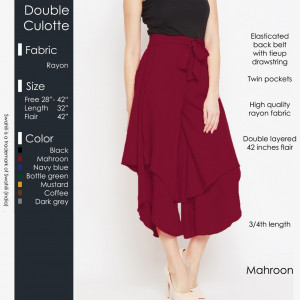 Double Culotte Mahroon
