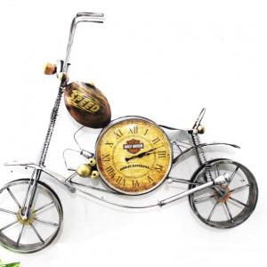 Metal Copper Bike Clock Wall art