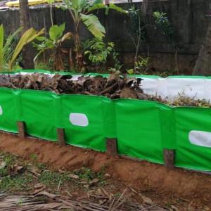 Mipatex 250 GSM HDPE Organic Vermi Compost Maker Bed, 8ft x 4ft x 2ft (Green)