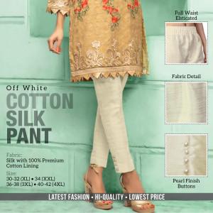 Cotton Silk Pant Off White
