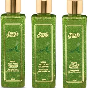 Pure & Grace Neem - Anti Acne Facewash Pack of 3 (Code: C1416474)