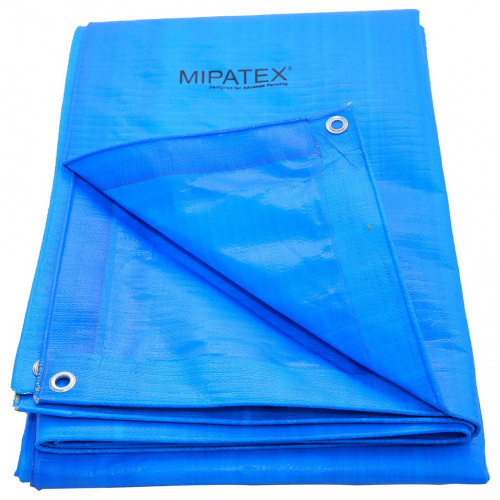 Mipatex Tarpaulin Sheet Waterproof Heavy Duty 12ft x 15ft,  Poly Tarp with Aluminium Eyelets every 3 feet - Multipurpose Quality - 150 GSM  Plastic Cover for Truck, Roof, Rain, Outdoor or Sun