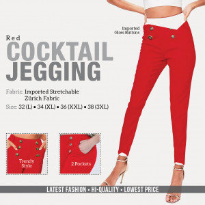 Cocktail Jegging Red