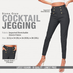 Cocktail Jegging Black