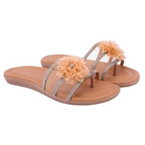 Women Tan Flats sandals