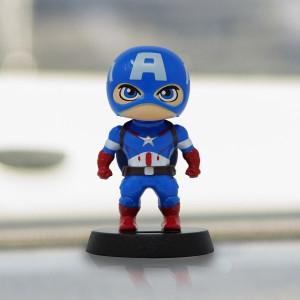 Marvel Disney Captain America Solar Bobble-Head Figure