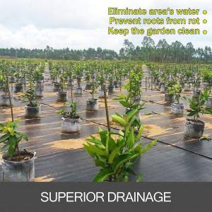 Mipatex 90 GSM Premium Garden Weed Control Barrier Sheet Mat 1.85m x 150m, Landscape Fabric Durable Heavy-Duty Weed Block Gardening Matting, Eco-Friendly and Convenient Design (Black)