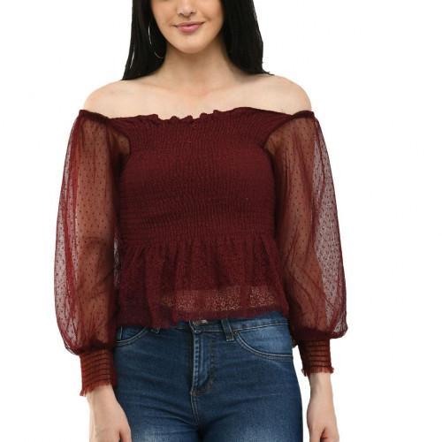 Women's off-shoulder Top (Code:1382983)