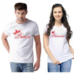 Standard Cotton Printed Couple T-Shirt (Code: 750460)
