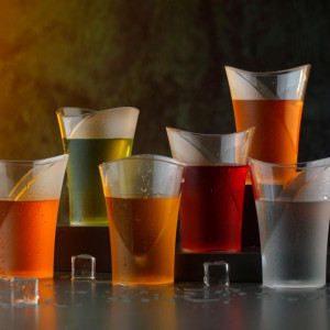 Glass Set - Polycarbonate Stylish Transparent Glass Set (270 ml, Pack of 6 ) (Code: 1245142)