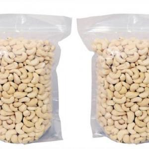 IndiPop Cashew Nut Kernels Regular Size (2x250gm) (Kaju Sabut, Whole Cashews) (2x250=500gm)