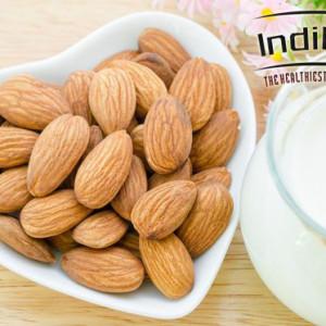 IndiPop California Natural Almonds (Badam Giri) Grade - medium Size Almonds(250 g)