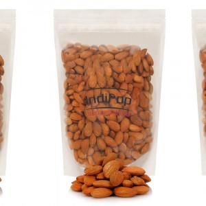 IndiPop California Natural Almonds (Badam Giri) (3x250gm=750 g)