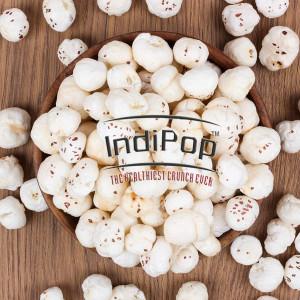 IndiPop 250gm premium Foxnut/Lotus seeds pop/ Gorgon nut puffed kernel/Phool Makhana (250 g)